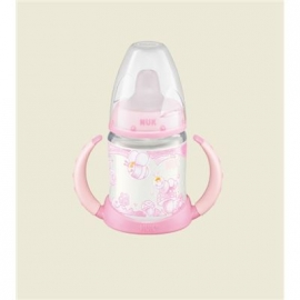 NUK - Baby Rose PP-Trinklernflasche FIRST CHOICE, 150 ml